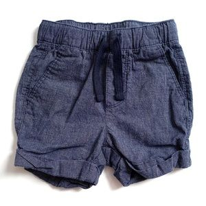 Old Navy Chambray Shorts Size 12-18 Months